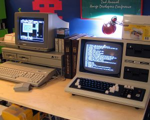 Atari 520ST and TRS-80 Model 4