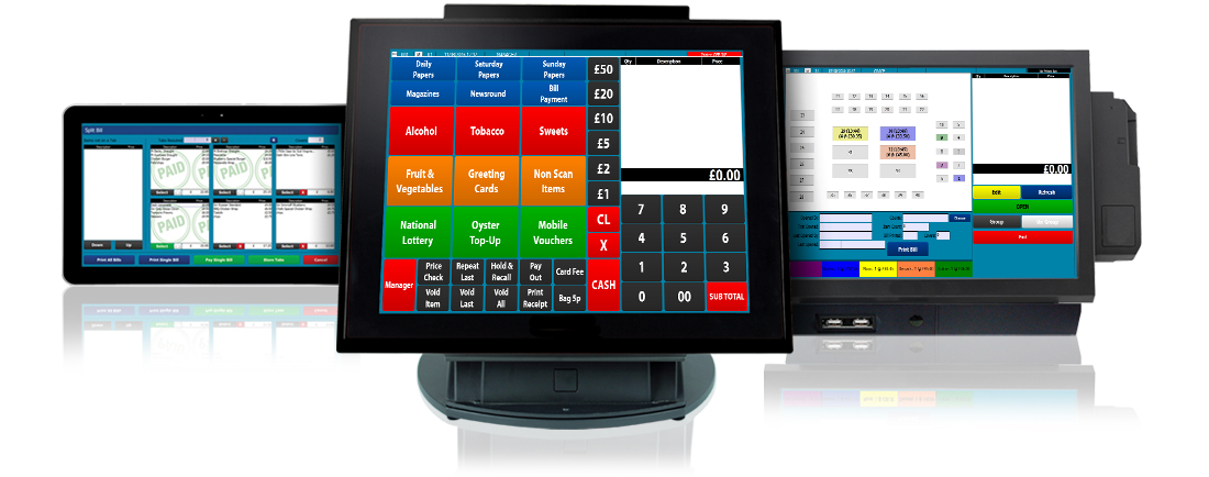 CES Touch EPoS System displayed on Hardware